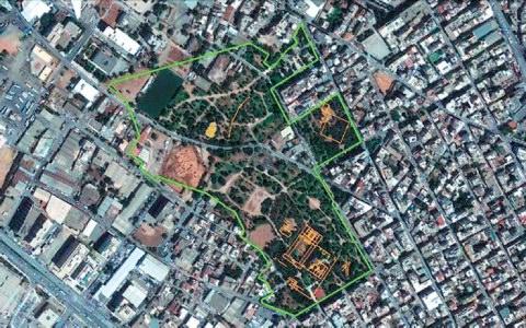 Χάρτης περιοχής Ακαδημίας Πλάτωνος